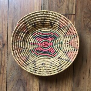 Vintage Woven Boho Mexican Basket Wall Decor